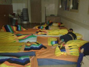 sleeping in a sheltered workshop