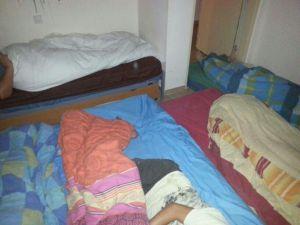 sleeping in the Mamad